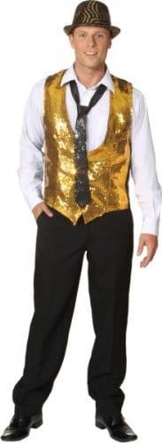 goldene Paillettenweste für Herren - 1