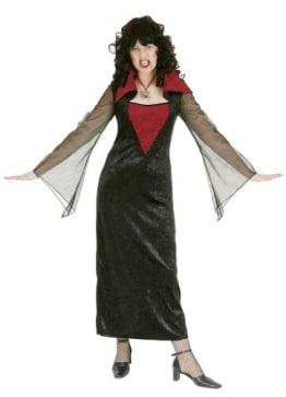 Gothik-Vampir: Kleid aus Pannesamt für Countess - 1