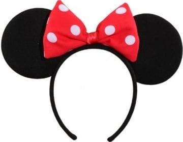 Haarreif mit Schleife, rot-weiß für Kinder, kleines Mäuschen - 3