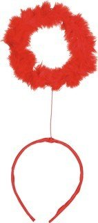 Haarschmuck: Haarreif mit Heiligenschein, rot - 1