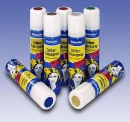 Haarspray, blauer Glitter, auswaschbar, 100 ml - 1