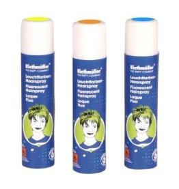 Haarspray: Leuchtfarben-Haarspray, gelb fluoreszierend, 100 ml - 1
