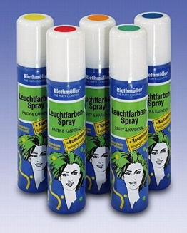 Haarspray: Leuchtfarben-Haarspray, grün fluoreszierend, 100 ml - 1