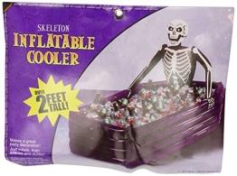 Halloween: Getränkekühler, Skelett im Sarg, aufblasbar 76 x 66 x 109 cm - 1