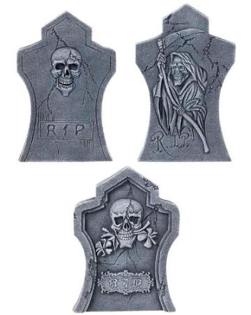 Halloween-Set: Grabsteine mit Streudeko, Porenschaum - 2