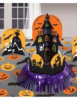 Halloween-Set: Tischdeko, Spukschloss mit Streudeko, 27 Teile - 1