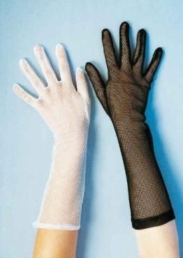 Handschuhe: Netzhandschuhe, lang, schwarz - 1