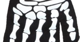 Handschuhe: Skelett-Handschuhe - 1