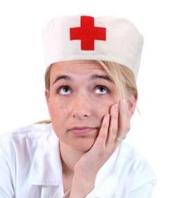 Haube: Sanitäter-Haube, weiß mit rotem Kreuz, Einheitsgröße - 1
