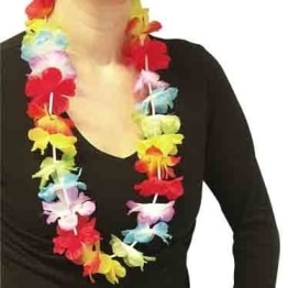 Hawaiikette: Blumenkette mit Blüten, 82 cm Länge - 1