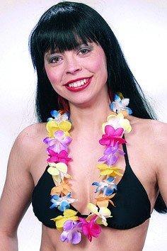 Hawaiikette: Blumenkette mit Blüten, 82 cm Länge - 2