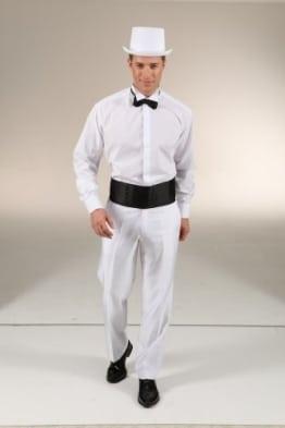 Hemd: Frack-Hemd, mit Stehkragen, weiß - 1