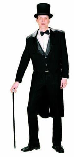 Herren-Kostüm: Frack mit Satinkragen - 1