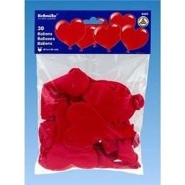 Herz-Luftballon, rot, 30er-Pack - 1