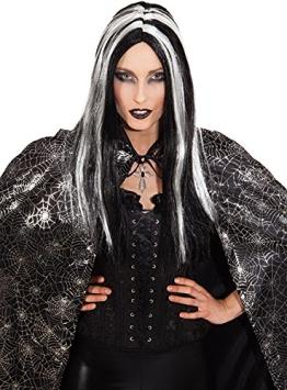 Hexen-Perücke, schwarz-weiß für Hexenkostüme - 1