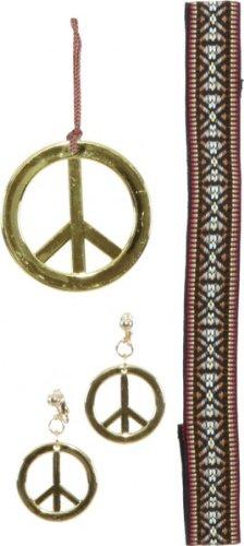 Hippie-Set : Ohrringe, Kette und Kopfband - 1