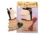 Hochzeitsgirlande: Brautpaar auf Torte, 4 m - 1