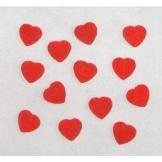 Holz-Konfetti: kleine rote Herzen, 10 mm, 20 Stück - 1