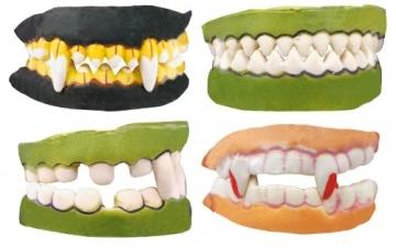 Horrorzähne, Horrorgebiß schlechte Zähne Verkleidung - 1