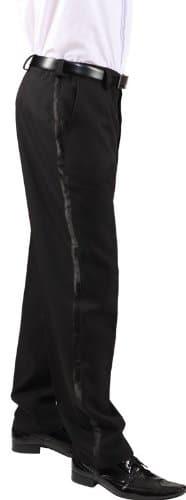 Hose: Frack-Hose, mit Satinstreifen, schwarz - 1