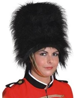 Hut: Bärenfellmütze, britische Garde, für Damen, schwarz, 25 cm, Einheitsgröße - 1