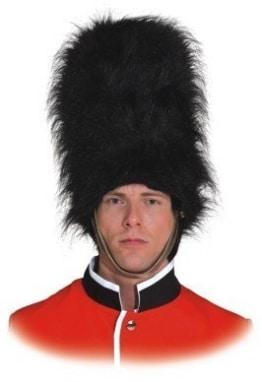 Hut: Bärenfellmütze, britische Garde, für Männer, schwarz, 40 cm, Einheitsgröße - 1