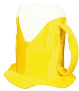 Hut: Bierkrug-Hut, gelb-weiß - 1