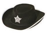 Hut: Cowboyhut, Sheriffstern, schwarz, Kindergröße - 1