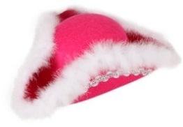 Hut: Funkenhut, pink, mit Silberborte - 1