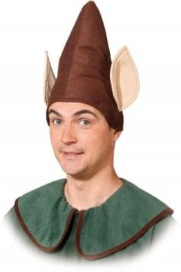 Hut: Koboldmütze, braun, mit Ohren - 1