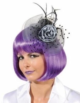 """Hut: Mini-Hut """"Melissa"""", mit Blütenschmuck, grau - 1"""