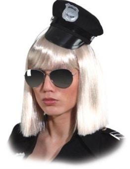 Hut: Mini-Hut, Polizei, schwarz - 1