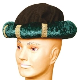 Hut: Turban, dunkelgrün - 1