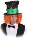 Hut: Zylinder, schwarz, breites grünes Hutband, Kopfweite 61 - 1