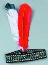 Indianer-Kostüm: Stirnband mit Federn - 1