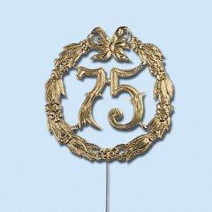 Jubiläumszahl 25 silber, Durchm. 13cm mit Draht - 1