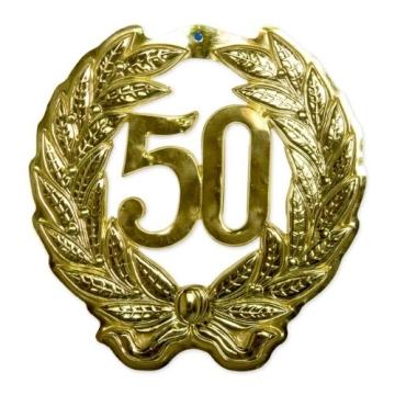 Jubiläumszahl 50, 40 cm Durchmesser - 1