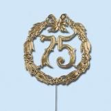Jubiläumszahl 50 gold, Durchm. 13cm mit Draht - 1