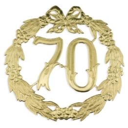 Jubiläumszahl 70 gold, Durchm. 24cm ohne Draht - 1