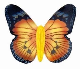 Jumbo Schmetterlingsflügel, gelb - 1