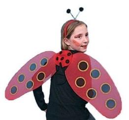 Käfer-Kostüm: Set mit Flügeln und Haarreif - 1