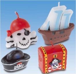 Kerzen: Figurenkerzen, Piratenmotive, 4er-Pack - 1