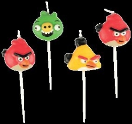 "Kerzen: Mini-Figurenkerzen, ""Angry Birds"", 4 Stück - 1"
