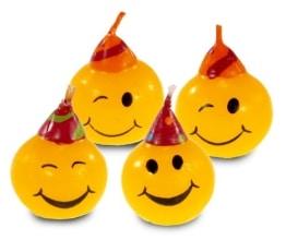 Kerzen: Mini-Figurenkerzen, Smileys - 1