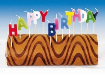 "Kerzen-Set: Buchstabenkerzen ""Happy Birthday"" - 1"