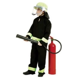 Kinderkostüm: Feuerwehranzug mit Feuerwehr-Schriftzug - 1