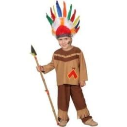 Kinderkostüm: Indianer, Oberteil und Hose, Größen 104, 116 und 128 - 1