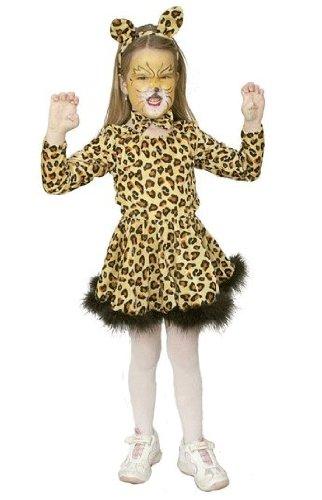 Kinderkostüm: Leoparden-Girl mit Body, Rock und Haarreif - 1
