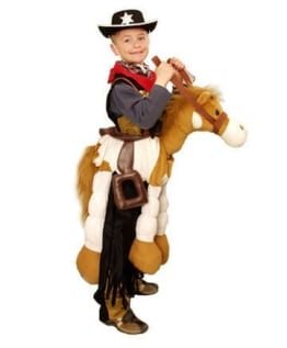 Kinderkostüm: Pony mit Sattel, für 4 – 8 Jahre - 1