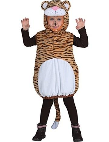 Kinderkostüm: Tiger, Weste mit Kapuze, Größe 104 - 1